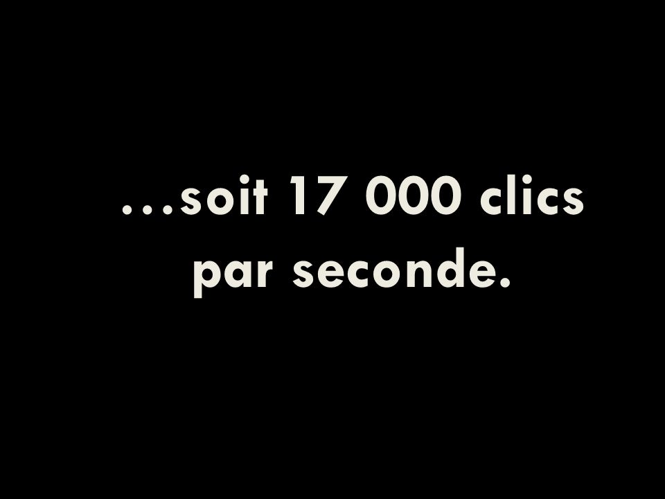 …soit 17 000 clics par seconde.