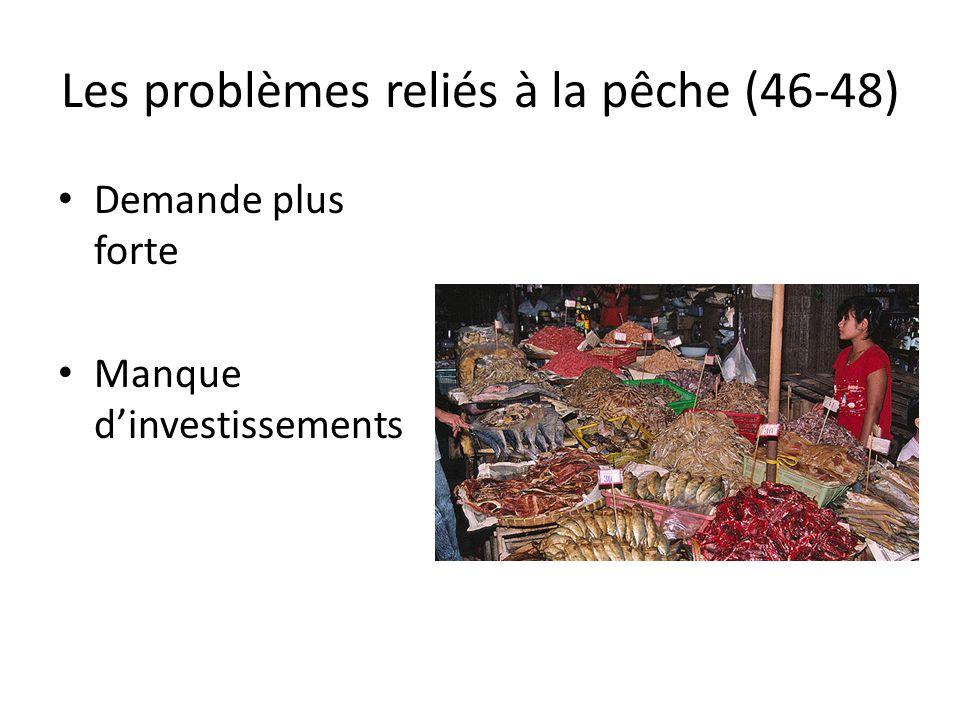 Les problèmes reliés à la pêche (46-48) Demande plus forte Manque dinvestissements