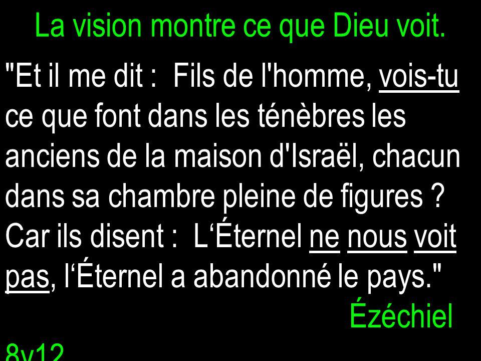 La vision montre ce que Dieu voit.