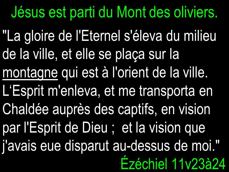 Jésus est parti du Mont des oliviers.