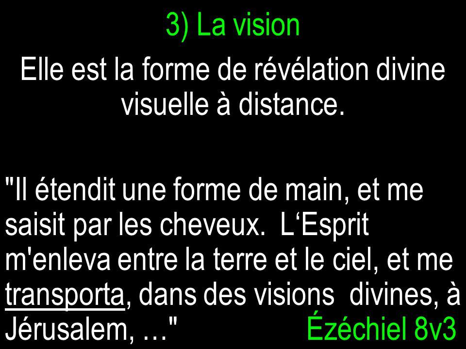 3) La vision Elle est la forme de révélation divine visuelle à distance.