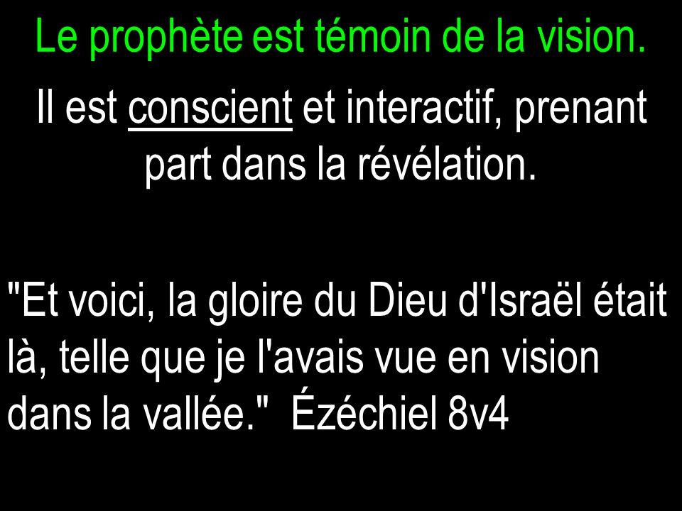 Le prophète est témoin de la vision.