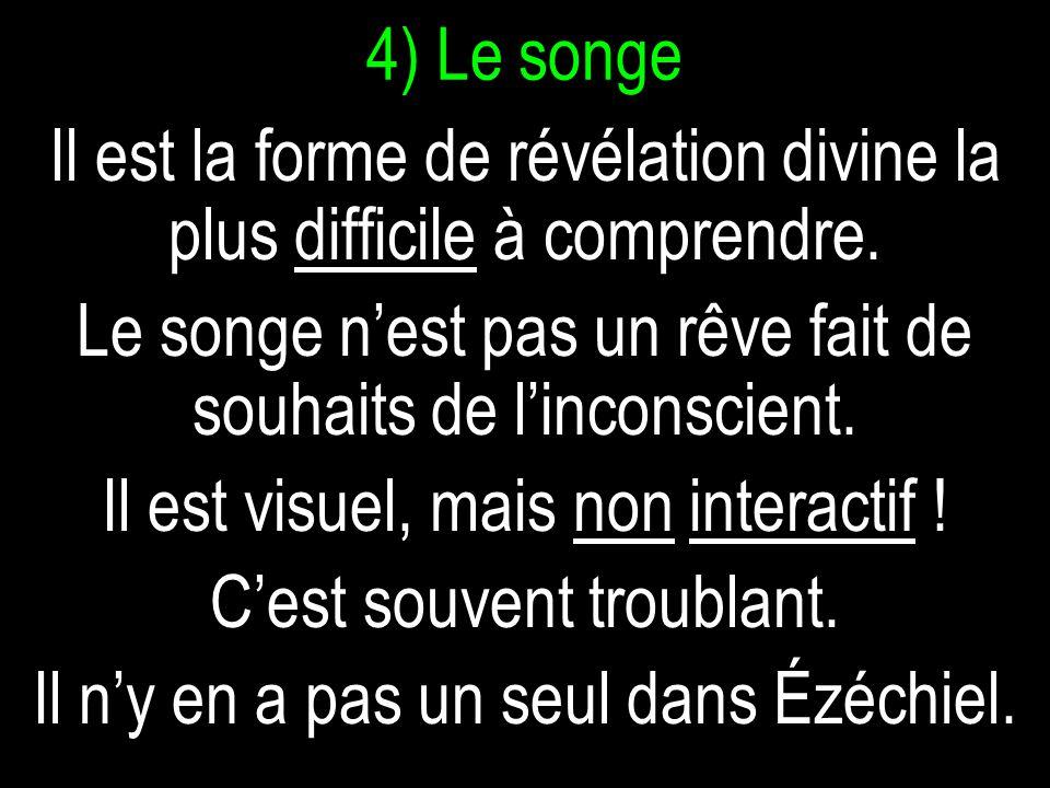 4) Le songe Il est la forme de révélation divine la plus difficile à comprendre.