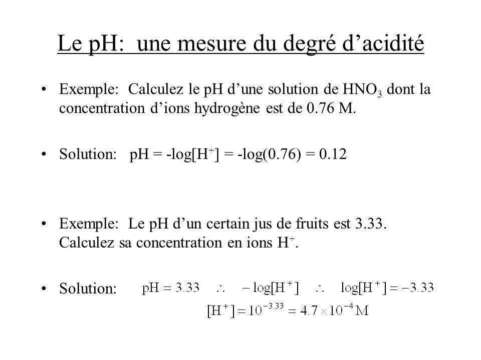 Le pourcentage dionisation le pourcentage dionisation est défini par pour un acide qui donne un seul proton où [HA] o est la concentration initiale de lacide le pourcentage dionisation diminue lorsque lacide devient plus concentré