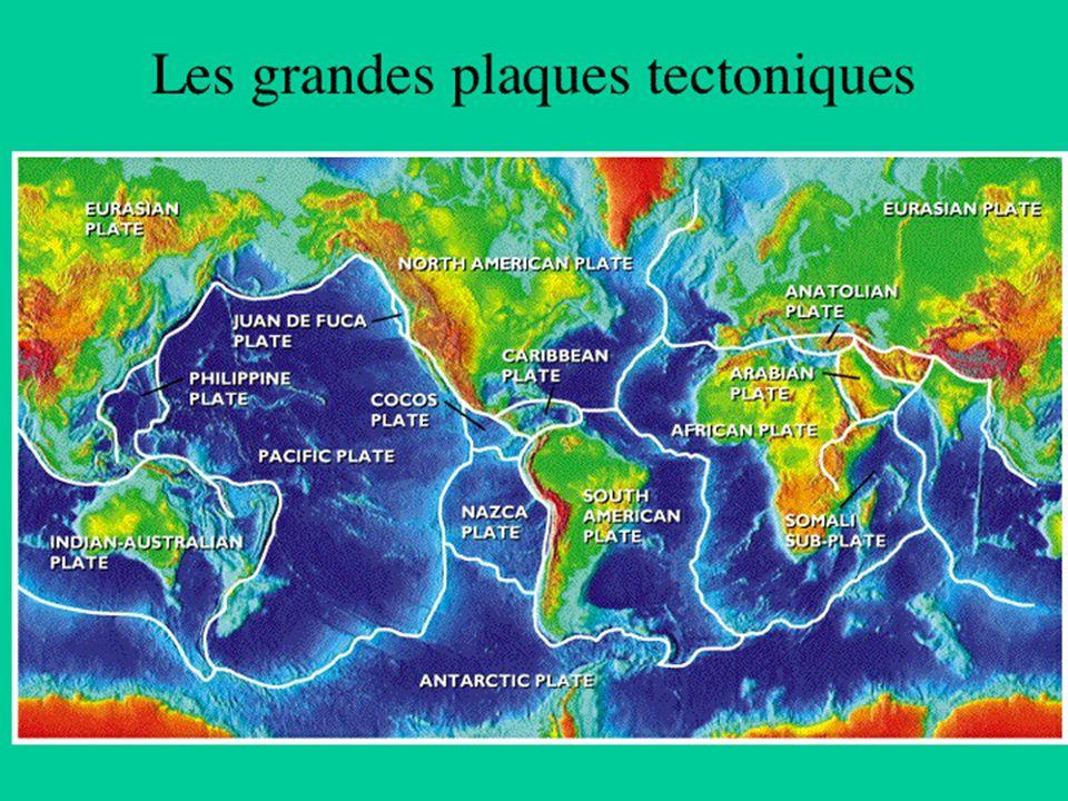 Trois types de limite de plaque Rides Subduction Failles