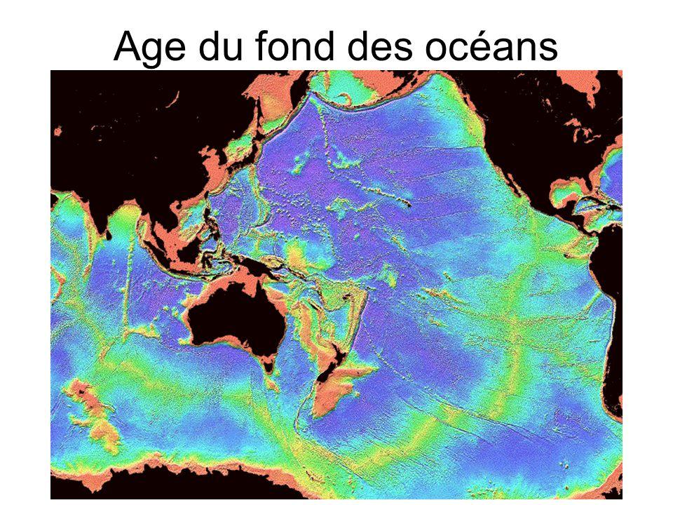 Age du fond des océans