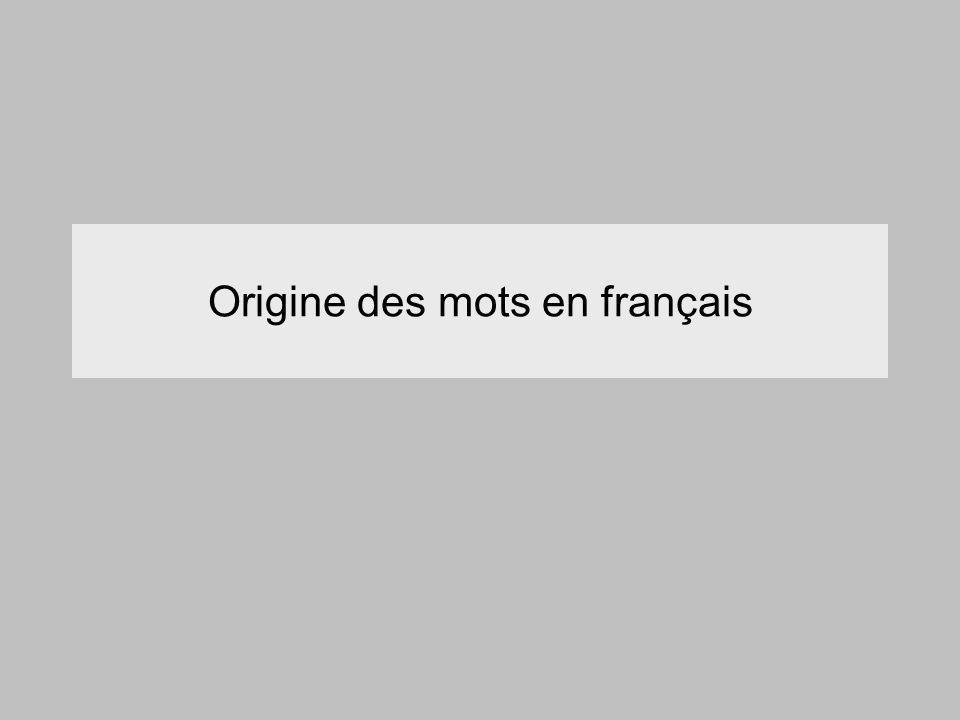 Origine des mots en français