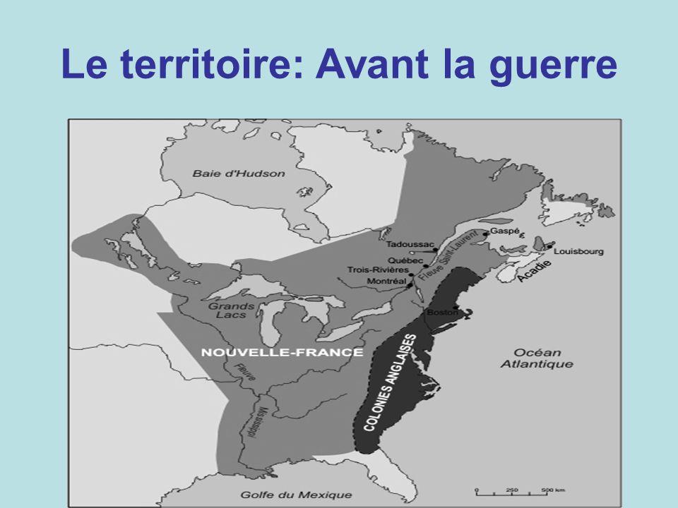 Le territoire: Avant la guerre