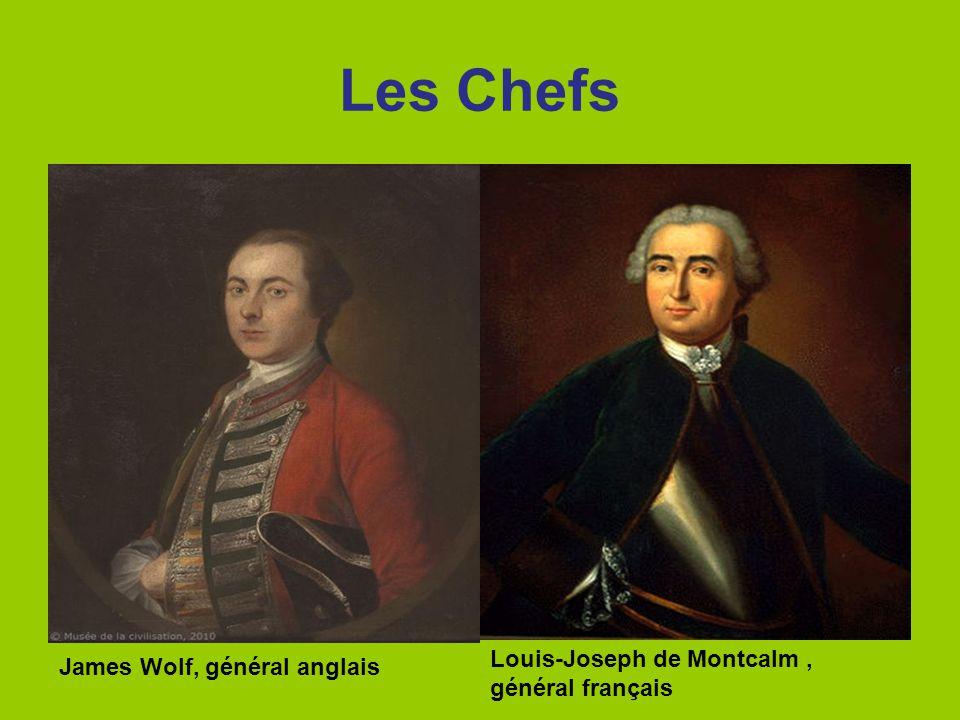 Les Chefs James Wolf, général anglais Louis-Joseph de Montcalm, général français