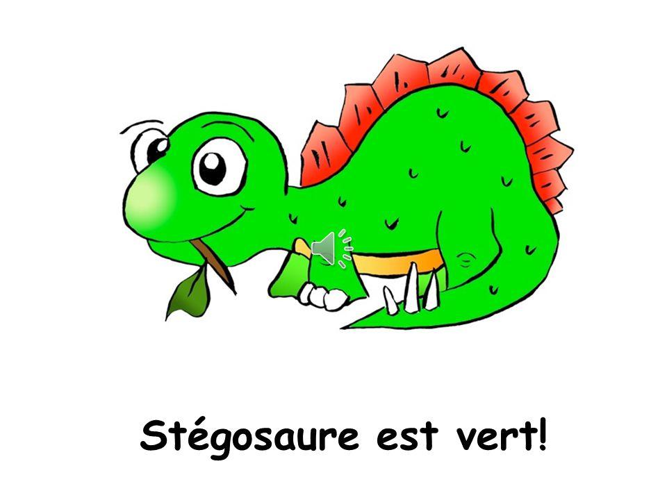 Stégosaure est de quelle couleur?