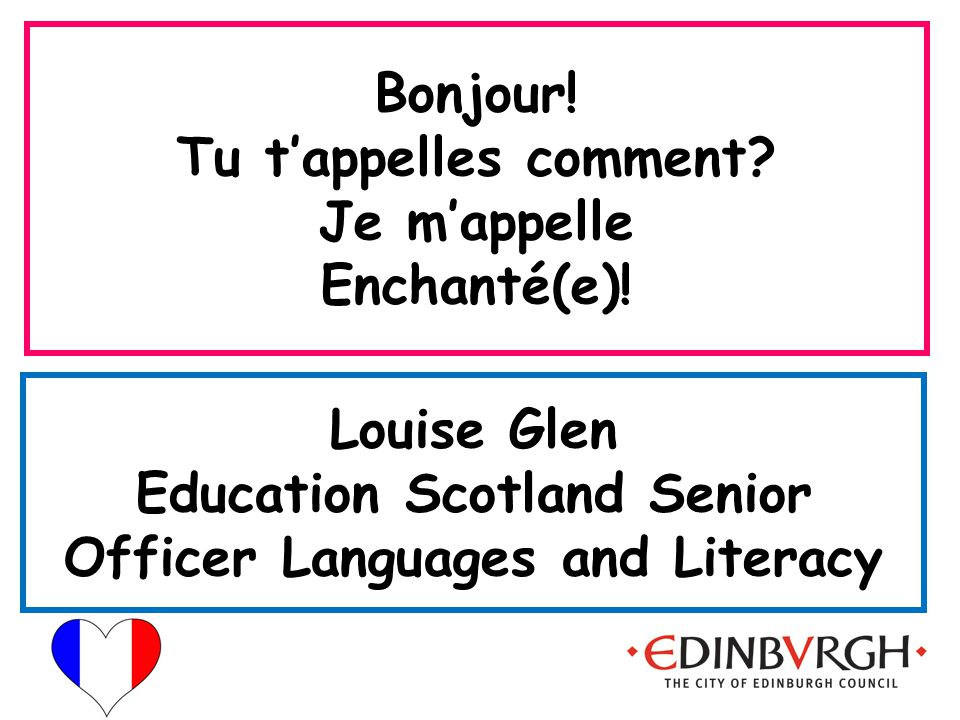 Embedding the language Using sil vous plaît, merci, oui and non as part of everyday classroom language.