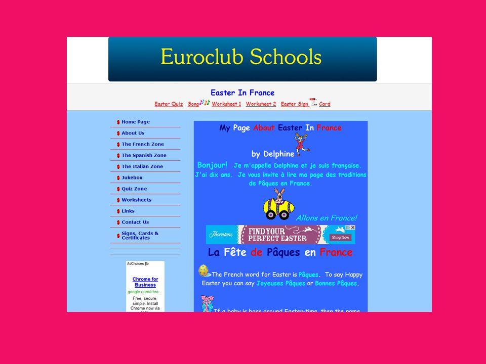 Travaillez sur lordinateur Lisez les informations sur le Mardi Gras et Les Paques http://www.euroclubschools.org/page36.htm