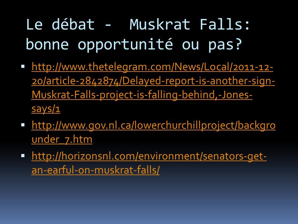 Lower Churchill Falls – Muskrat Falls 2010 Le contrat de développer plus de lhydroélectricité au Labrador était achevé le 18 Novembre 2010.