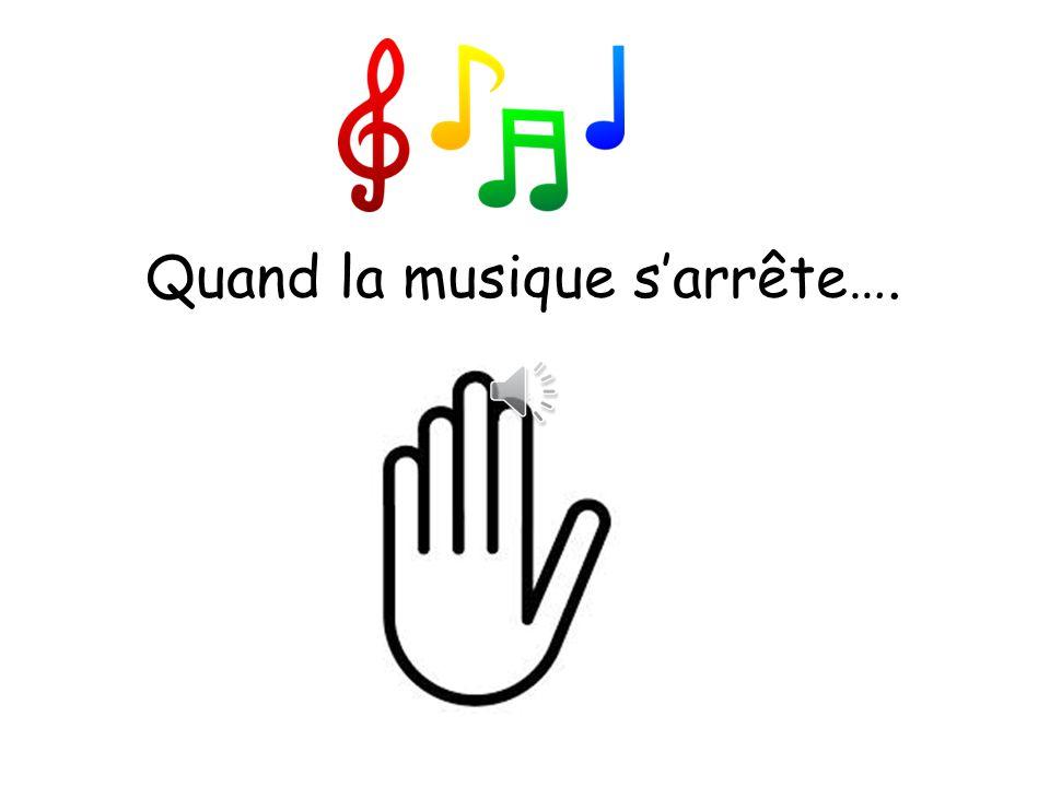 Ecoutez la musique… chantez… et faites le tour des chaises!