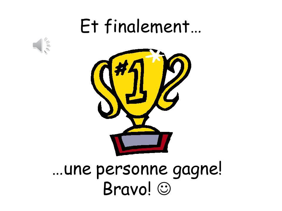 Bravo! 1, 2,3 - on continue!