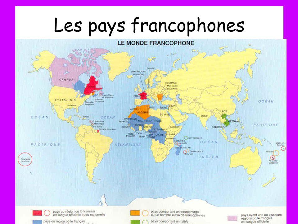 Les pays francophones