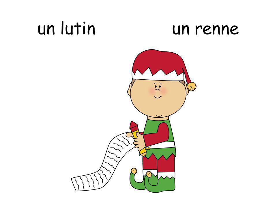 Le Père Noël un renne
