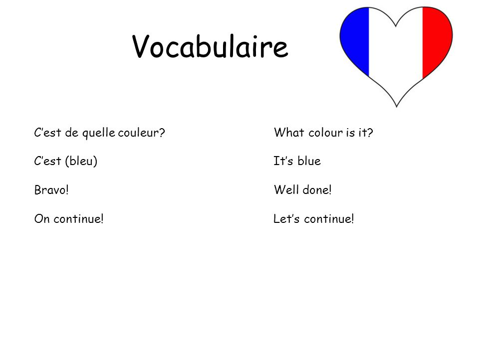 Activité 2 – Teachers notes Activité: Pass the Parcel (Passez le pacquet) 1. Prepare a parcel with different layers wrapped with different colours of
