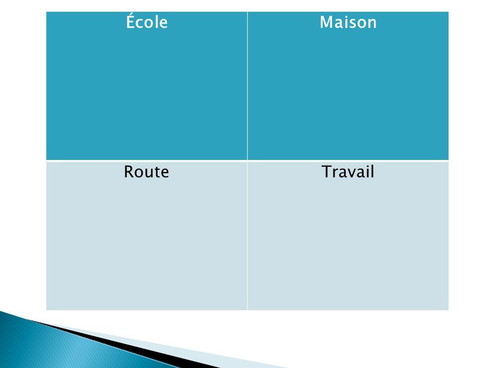 ÉcoleMaison RouteTravail