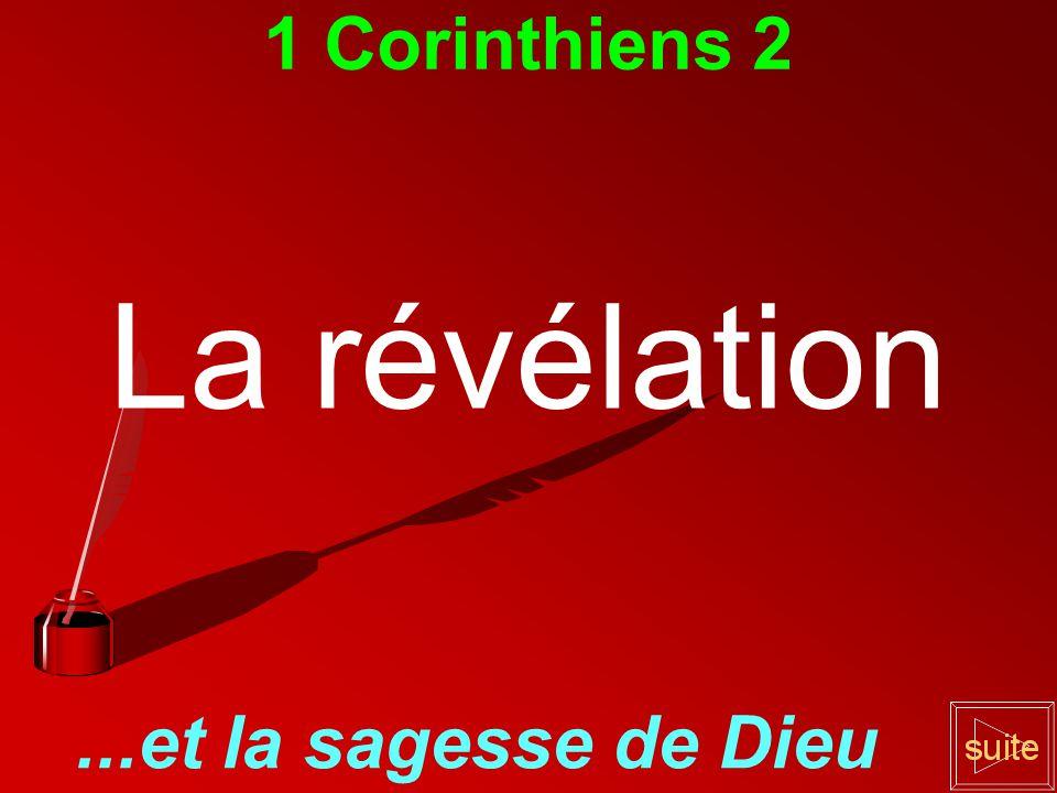 1 Corinthiens 2 La révélation...et la sagesse de Dieu