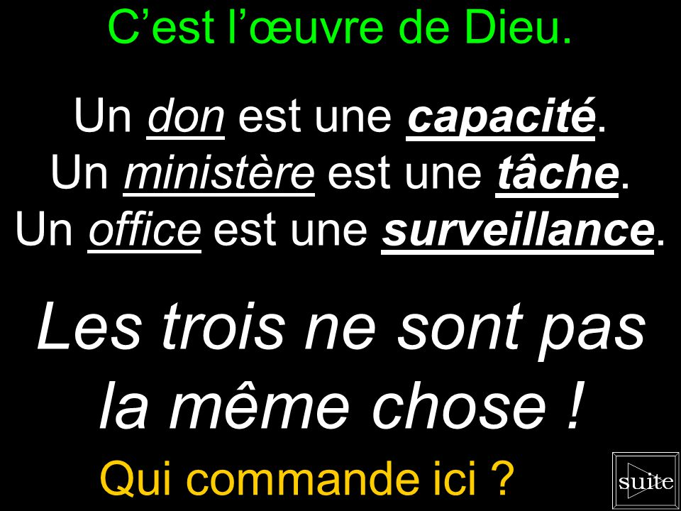On se conduit selon la Bible.
