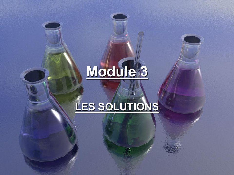 Facteurs affectant la solubilité ou la vitesse de dissolution 2 – La surface de contact Plus la substance à dissoudre est en contact avec le solvant, plus rapide est la dissolution.