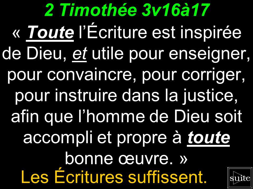 Lobjectif est la justice. « Toute lÉcriture est inspirée de Dieu, et utile... pour instruire dans la justice. » 2 Timothée 3v16 Le survol nous mène lo