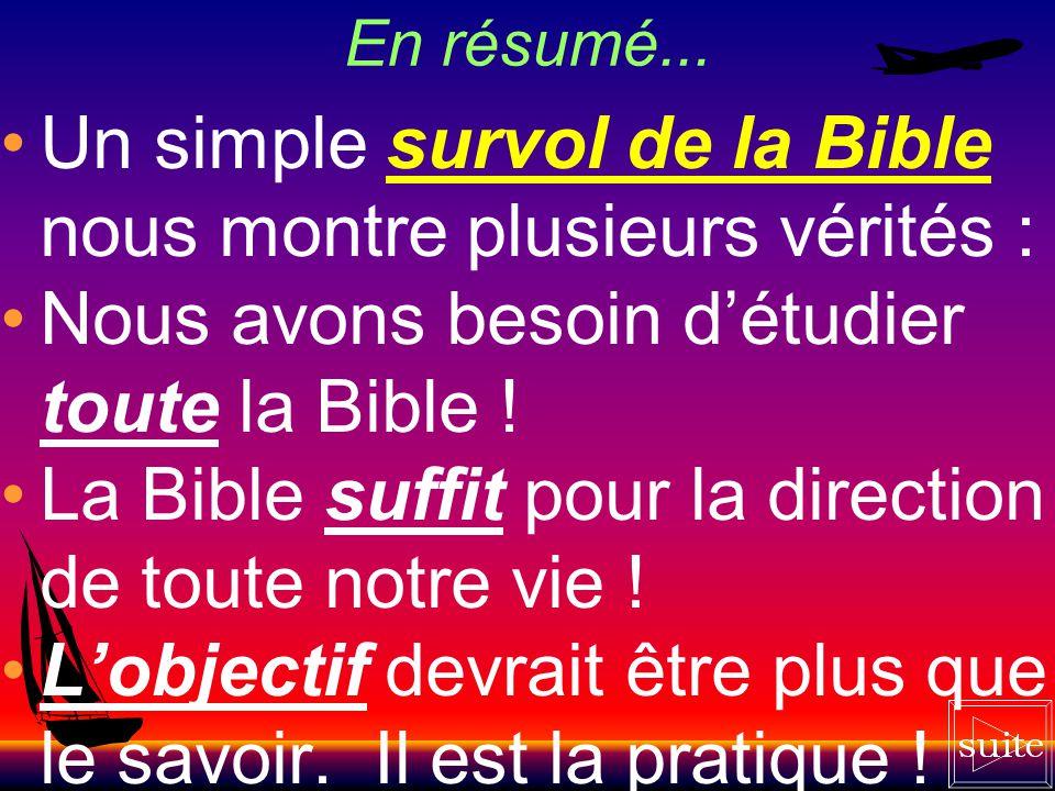 Toute la Bible et rien que la Bible « Fortifie-toi seulement et aie bon courage, en agissant fidèlement selon toute la loi que Moïse, mon serviteur, t
