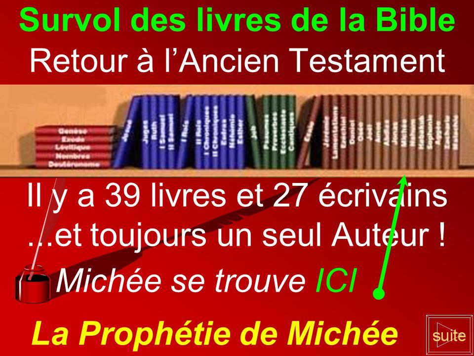 Retour à lAncien Testament Il y a 39 livres et 27 écrivains...et toujours un seul Auteur .