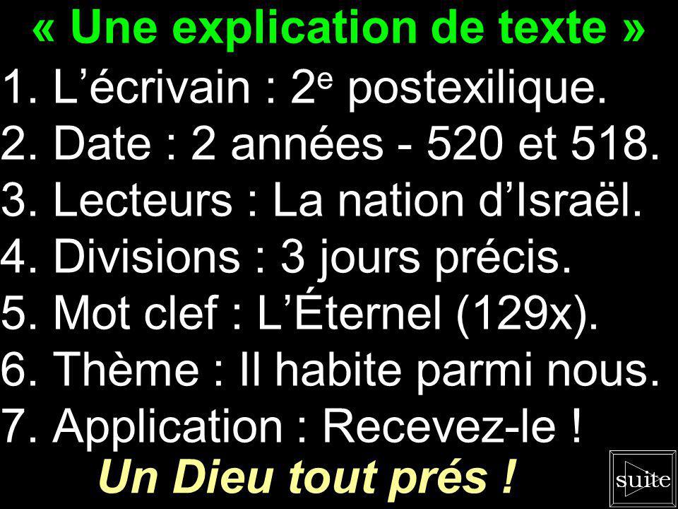 Survol des livres de la Bible La prophétie de Zacharie « Vous êtes le temple... »