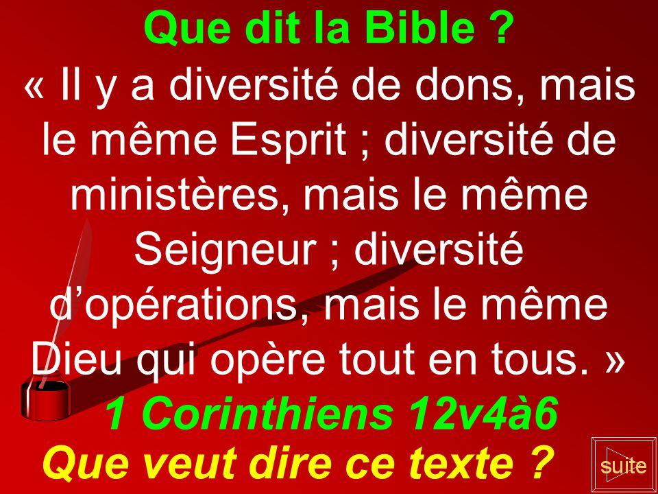 Que dit la Bible .