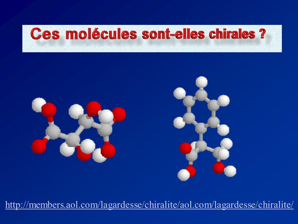 Schéma intégrateur Est-ce que la molécule est chirale? Possède-t-elle 4 groupements différents? Retrouve-t-on un carbone asymétrique? Oui Non La moléc