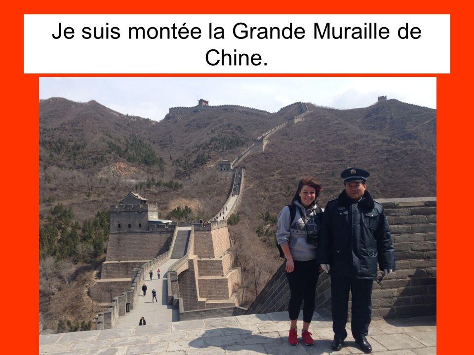Je suis montée la Grande Muraille de Chine.