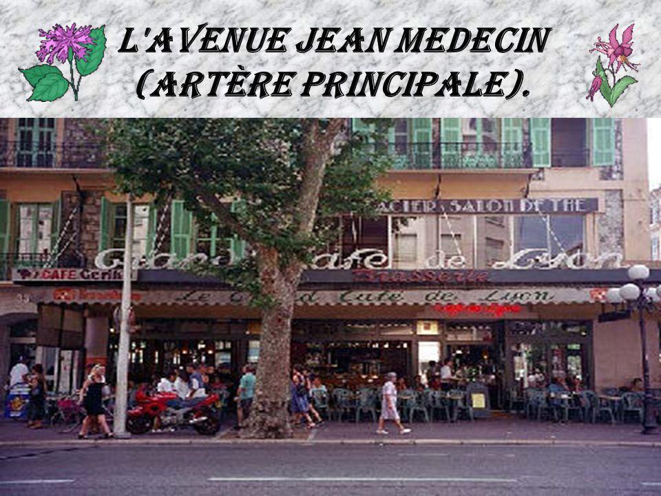L'avenue Jean Medecin (artère principale).