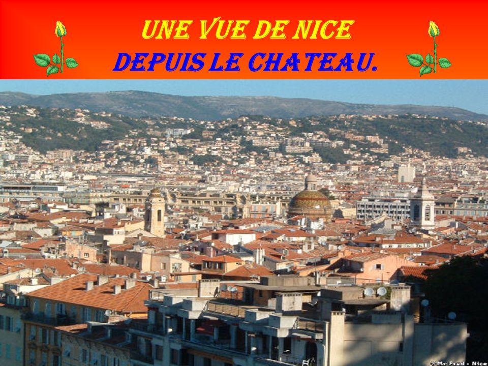 Une Vue de Nice depuis le chateau.