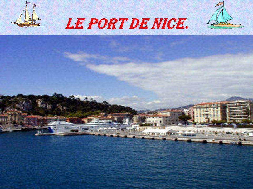 Le port de Nice.