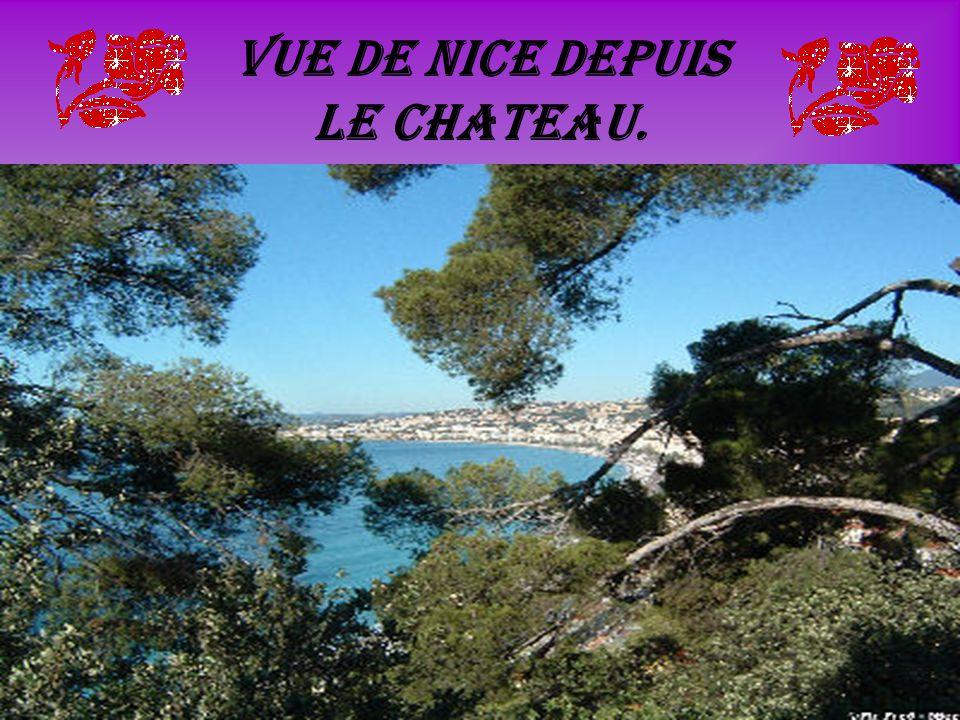 Vue de Nice depuis le chateau.