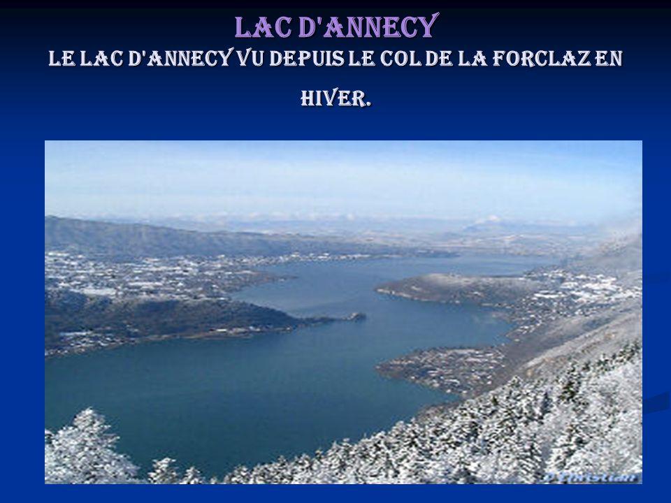 Lac d'Annecy Le lac d'Annecy vu depuis le col de la Forclaz en hiver.
