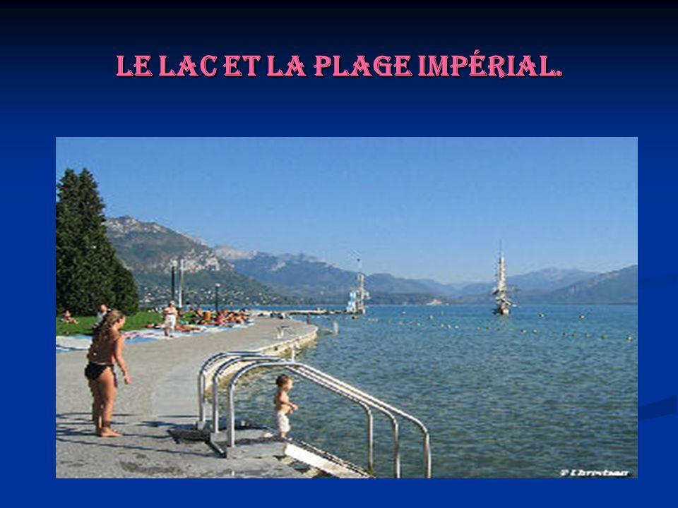 Le lac et la plage Impérial.