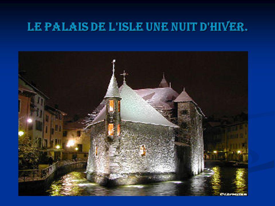Le palais de l'isle une nuit d'hiver.
