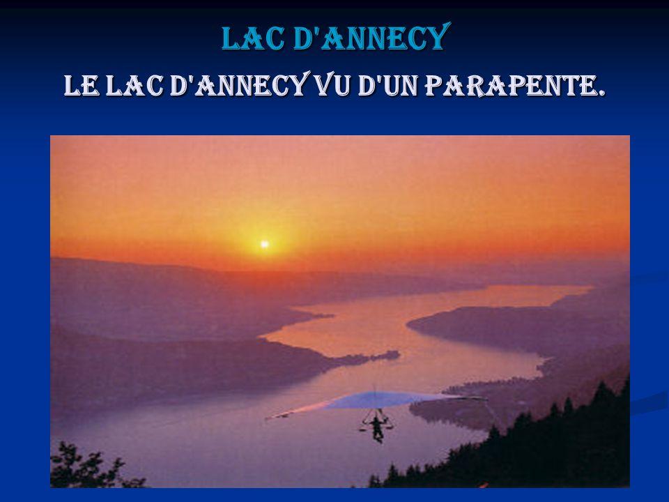 Lac d'Annecy Le lac d'Annecy vu d'un parapente.