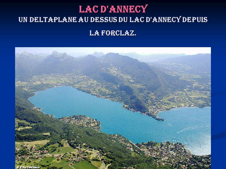 Lac d'Annecy Un deltaplane au dessus du lac d'Annecy depuis la Forclaz.