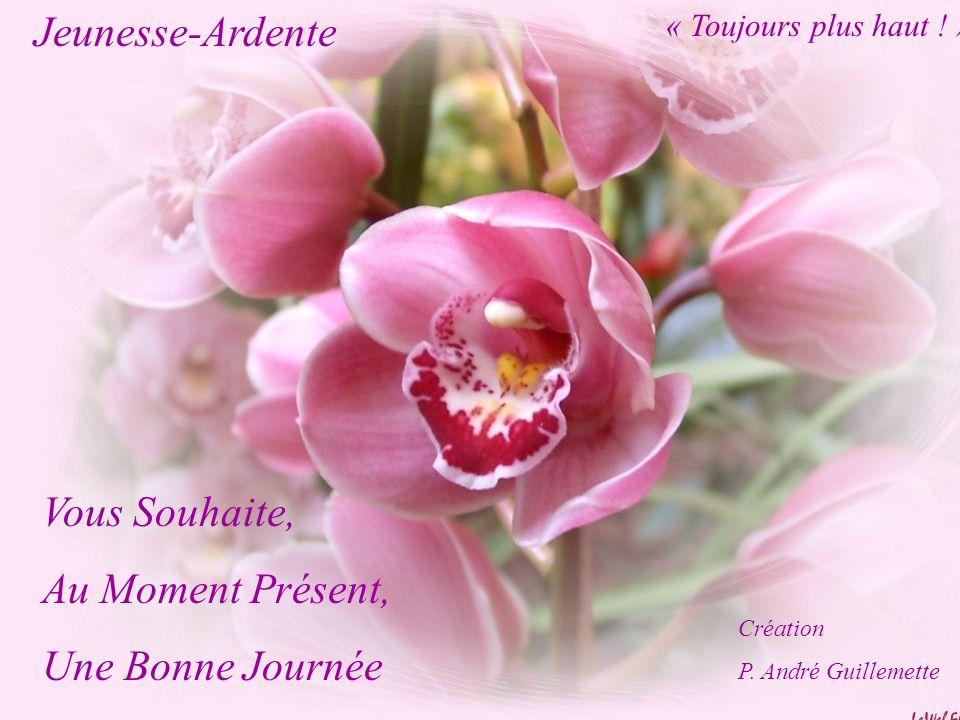 Jeunesse-Ardente Vous Souhaite, Au Moment Présent, Une Bonne Journée Création P. André Guillemette « Toujours plus haut ! »