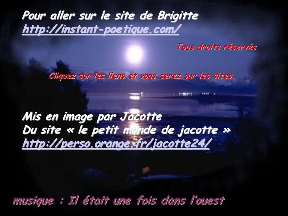 Poème écrit par : Brigitte LESIGNE extrait de son livre : « la femme cachée de la lune »