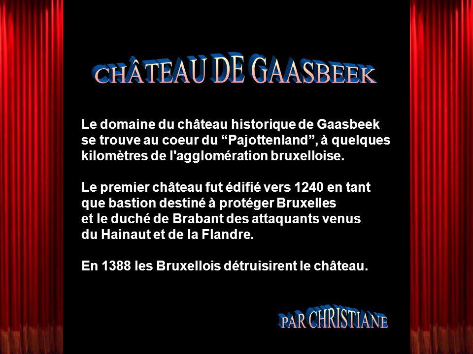 Le domaine du château historique de Gaasbeek se trouve au coeur du Pajottenland, à quelques kilomètres de l agglomération bruxelloise.
