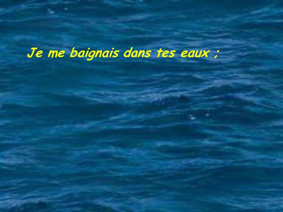 Je me baignais dans tes eaux ;