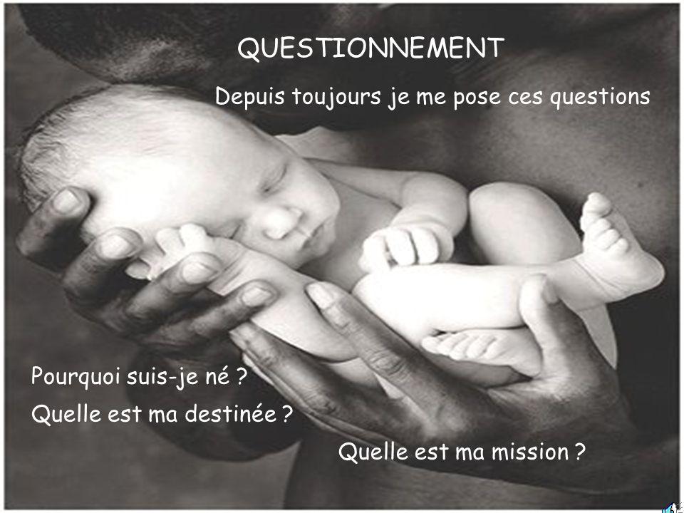 QUESTIONNEMENT Depuis toujours je me pose ces questions Pourquoi suis-je né .