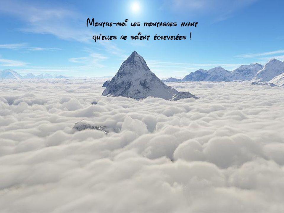 Montre-moi les montagnes avant qu elles ne soient échevelées !