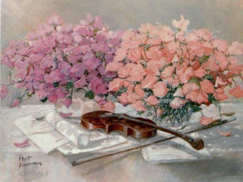 Un violon dans les jardins Vers moi laisse monter sa plainte. Oh! quel flot de langueur soudain De mon âme apaise la crainte!