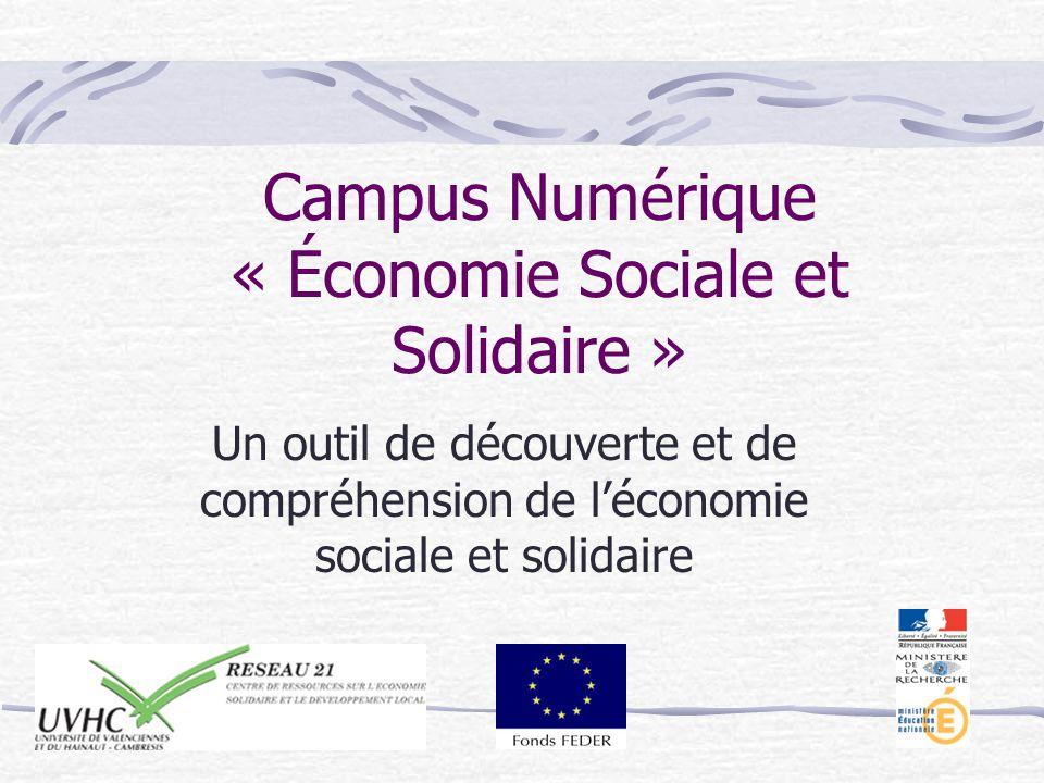 Campus Numérique « Économie Sociale et Solidaire » Un outil de découverte et de compréhension de léconomie sociale et solidaire